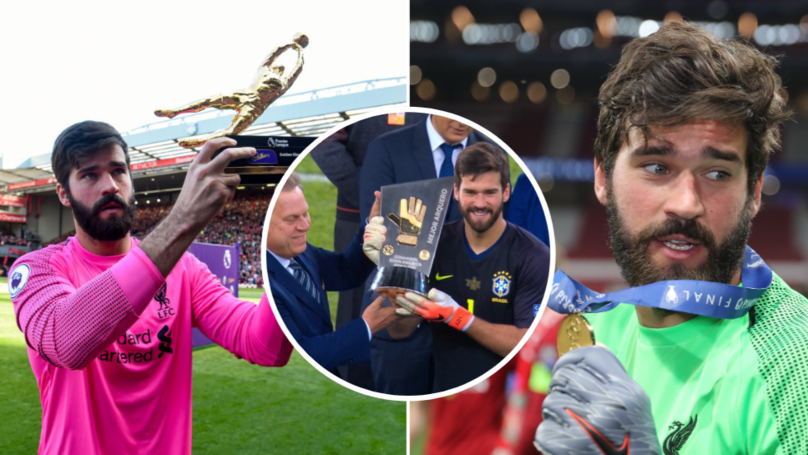 Liverpool's Alisson Becomes The First Goalkeeper To Win Three Golden Gloves In A Single Season