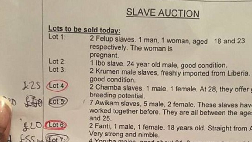 Kent School Criticised For Setting Up 'Slave Auction' During History Project