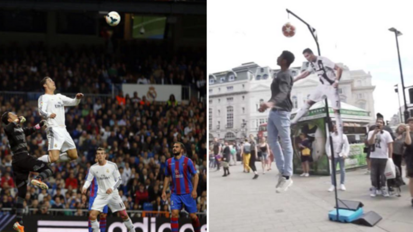 Public Challenged To Jump As High As Cristiano Ronaldo, With £1,000 Prize Up For Grabs