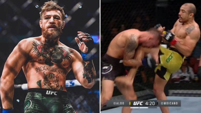 Conor McGregor Reacts To Jose Aldo's Brutal UFC Victory