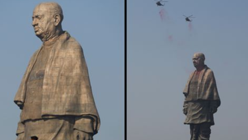 India Unveils World's Tallest Statue That Cost £330m And Is Twice The Size Of Statue Of Liberty