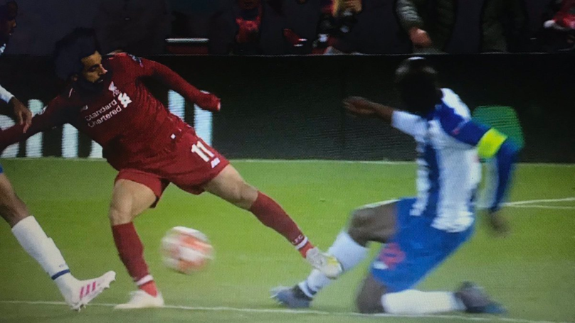 Mohamed Salah Escapes Red Card For Shock Challenge On Porto's Danilo Pereira