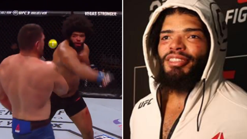 UFC Fighter Wins Heavyweight Fight By TKO After Being Visually Impaired From Round One