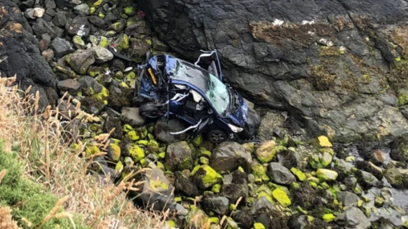Motorist Escapes With 'Minor Injuries' After 160ft Plummet From Cliff In Wales