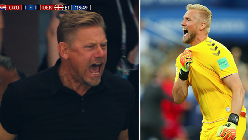 Peter Schmeichel's Reaction To His Son's Penalty Save In Extra Time Is Just Amazing