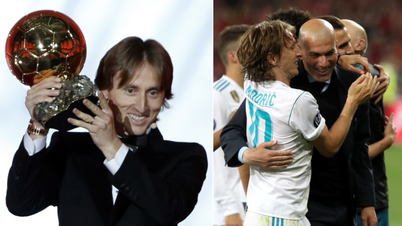Back In 2016, Zinedine Zidane Predicted That Luka Modric Would Win The Ballon d'Or
