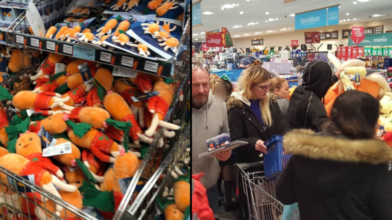 shoppers queue at aldi from 6am to get kevin the carrot. Black Bedroom Furniture Sets. Home Design Ideas