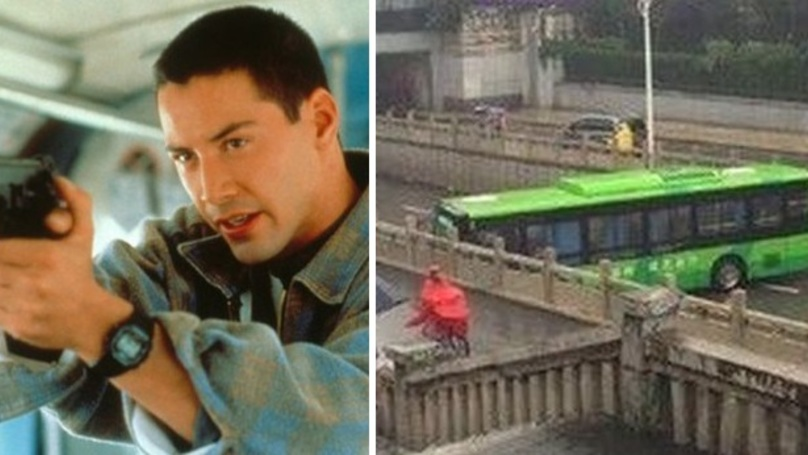 Bus Driver Channels Inner Keanu Reeves To Pull Off Epic U-Turn