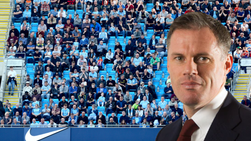 "Jamie Carragher Lets Man City Fan Know That His Club ""Can't Fill A Stadium"""