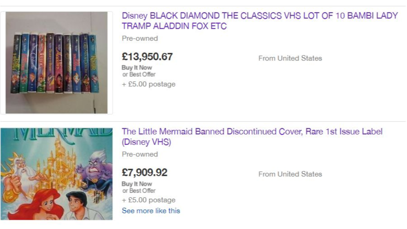 Your Old Disney VHS Tapes Could Be Worth Nearly £14,000 On eBay