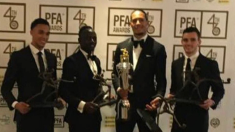 Virgil Van Dijk Wins PFA Players' Player Of The Year Award