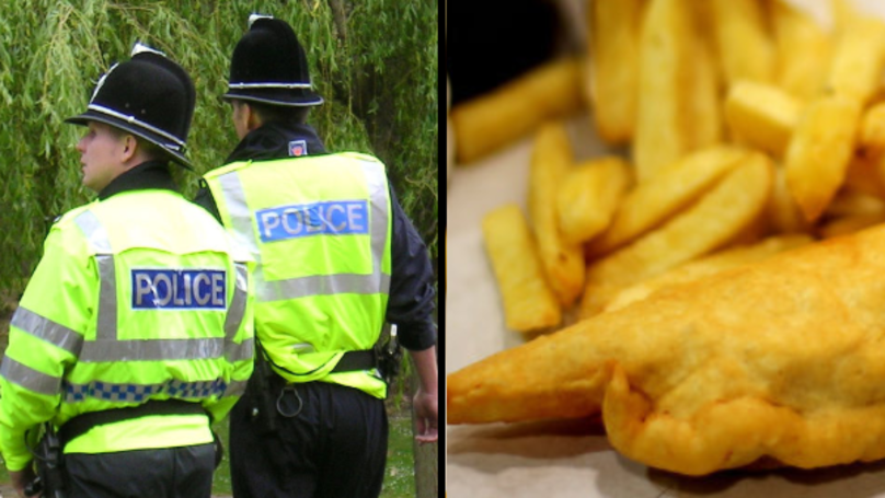 Cops Arrest A Suspected Illegal Immigrant And Buy Him Chips
