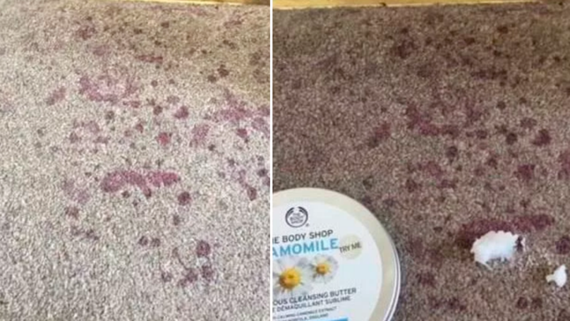 Mum Gets Red Wine Out Of Carpet With £10 Body Shop Cleansing Butter