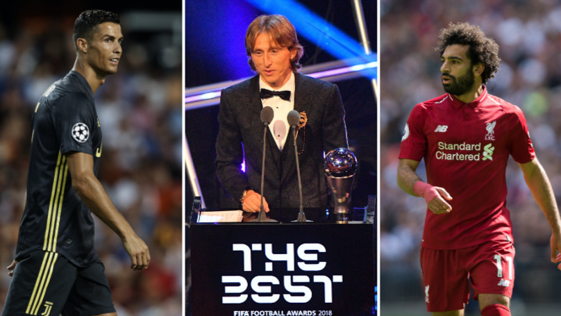 The Top 10 At The Best FIFA Awards And What Percentage They Got