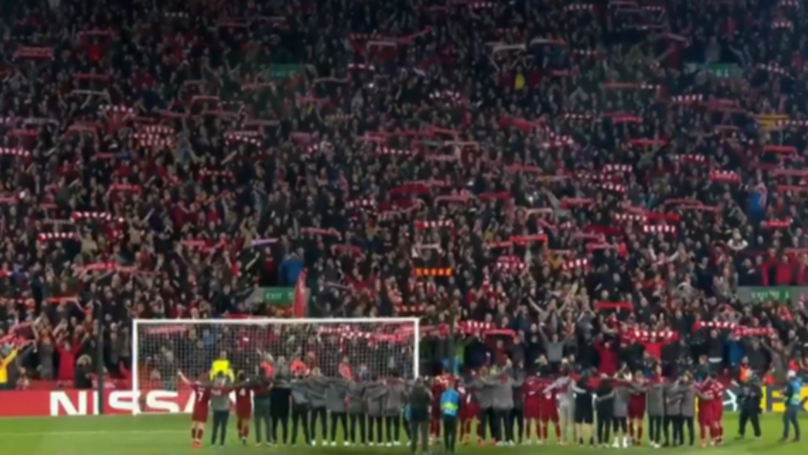 Liverpool Fans And Players Singing You'll Never Walk Alone Is Spine Tingling