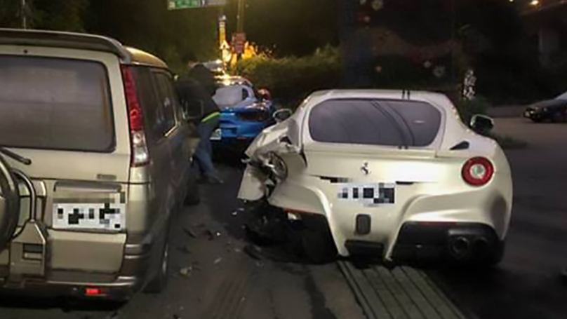 Delivery Driver Smashes Into Four Ferraris Causing £500k Worth Of Damage