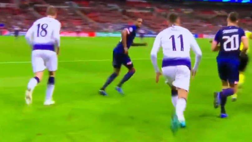 Fans Notice What Erik Lamela Did Against PSV That Should Have Got Him A Straight Red Card