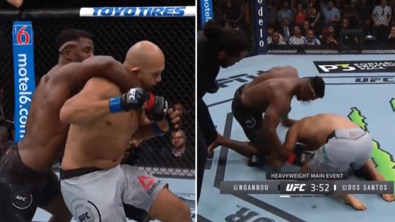 Francis Ngannou Destroys Junior Dos Santos In 71 Seconds At UFC Minneapolis