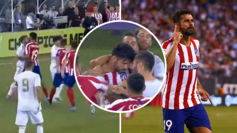 Diego Costa Scores Four And Gets Sent Off For Sparking 22-Man Brawl in 10-Goal Thriller Against Real Madrid
