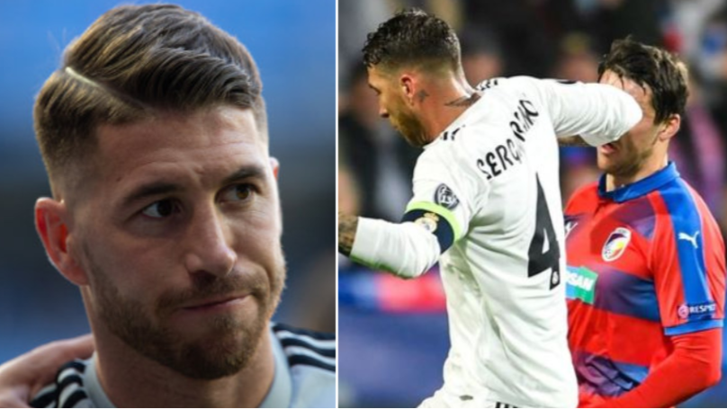 Real Madrid Captain Sergio Ramos Tweets Message To Player He Elbowed In The Face