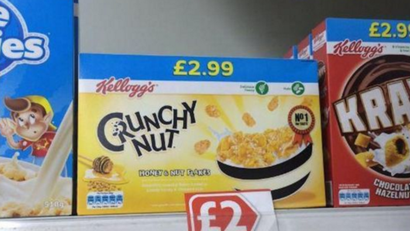 People Are Not Happy With Kellogg's New Packaging For Crunchy Nut