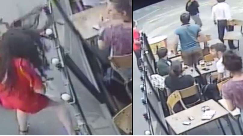 Man Caught On CCTV Hitting Woman Outside Café Is Jailed