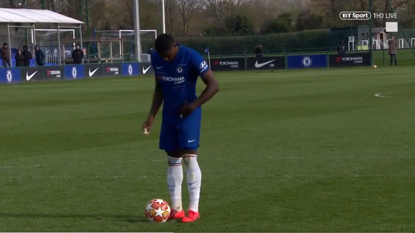 Chelsea Under 19's Defender Marc Guehi Scores Insane ZERO Step Penalty