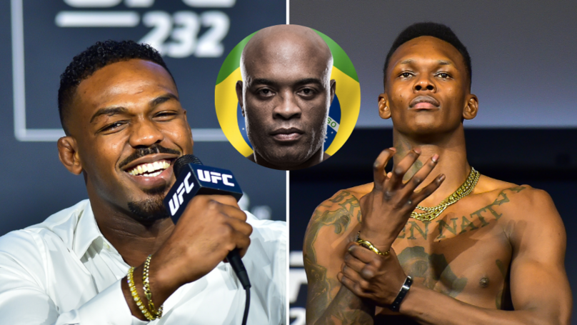 Jon Jones Responds To Israel Adesanya 'Hunting A GOAT' Claim