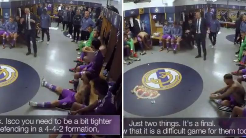 Zidane's Half Time Team Talk At The 2017 Champions League Final