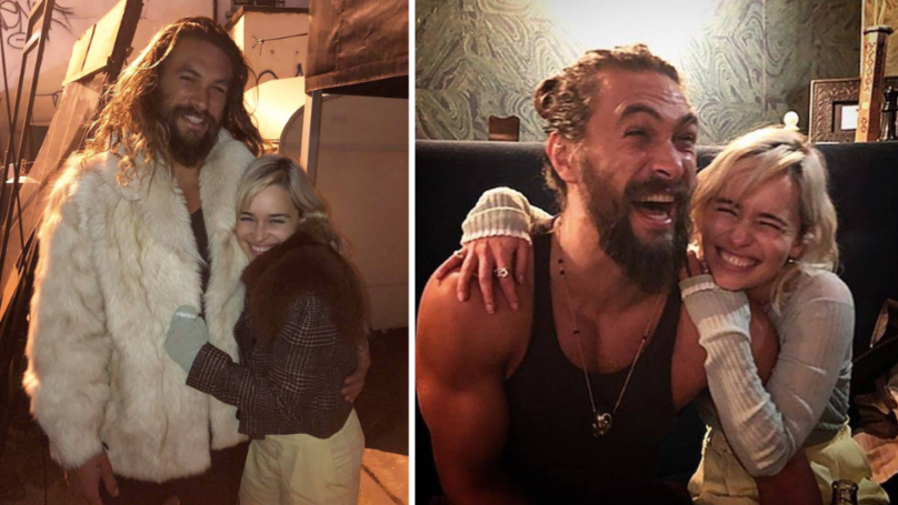 Jason Momoa Praises 'Game of Thrones' Costar Emilia Clarke's Bravery After He Feared He 'Nearly Lost' Her After Aneurysm