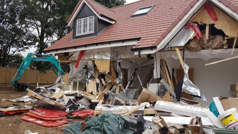 Disgruntled Builder Destroys 5 Homes - Weeks Before New Owners Were Meant To Move In