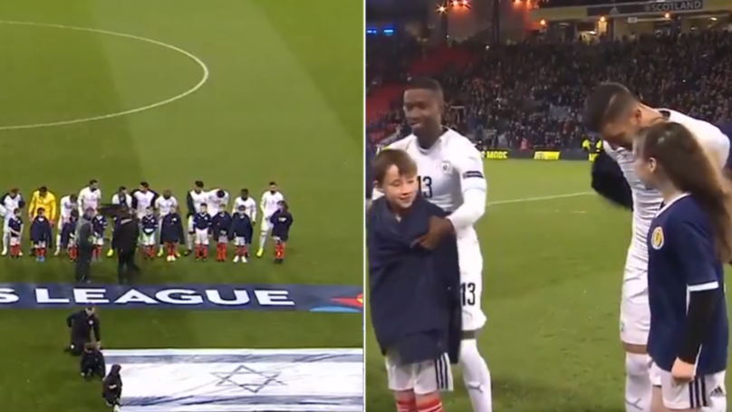 Israel Players Make Sure Shivering Mascots Are Warm During National Anthem With Brilliant Gesture