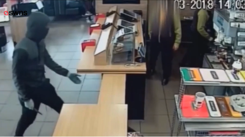 Masked Knifeman Holds Up McDonald's And Steals Monopoly Stickers