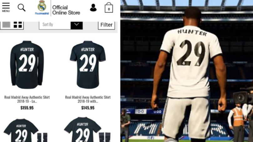 You Can Actually Buy Real Madrid Shirt With 'Alex Hunter' On Back For €155