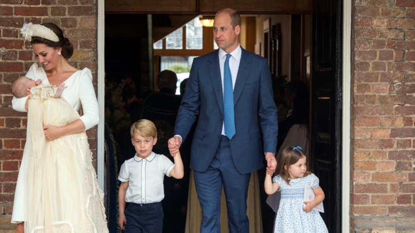 ​First Photos Surface Of Cambridge Family Together For Prince Louis' Christening
