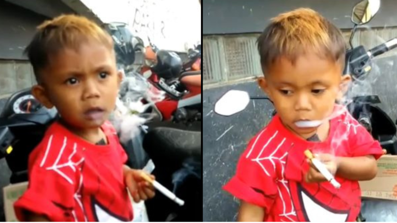Boy, 2, With 40-A-Day Smoking Habit 'Goes Berserk' If People Don't Feed His Addiction
