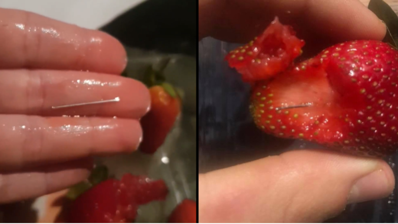 Woman Arrested After 'Deliberately' Putting Needles Into Supermarket Strawberries