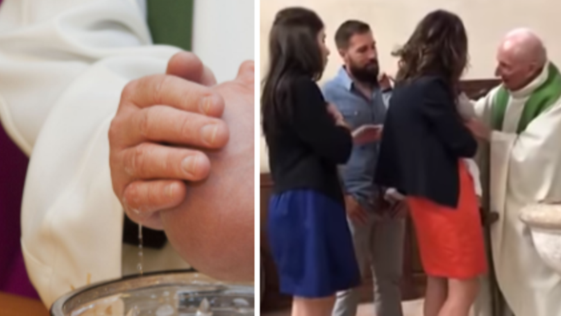 WATCH: Relatives Left Stunned As Priest Slaps Baby Mid-Christening