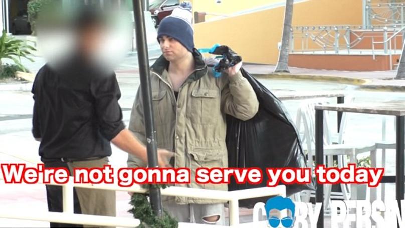 'Billionaire' YouTuber Pretends To Be Homeless And Stuns Florida Restaurant Host