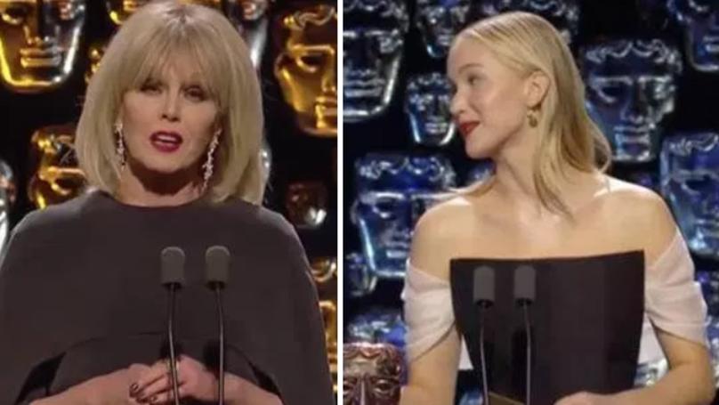 BAFTA Viewers 'Fuming' As Jennifer Lawrence 'Throws Shade' At Joanna Lumley