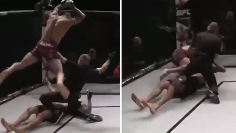 MMA Fighter Knocks Opponent Out Cold, Then Disgustingly Proceeds To Jump On Him