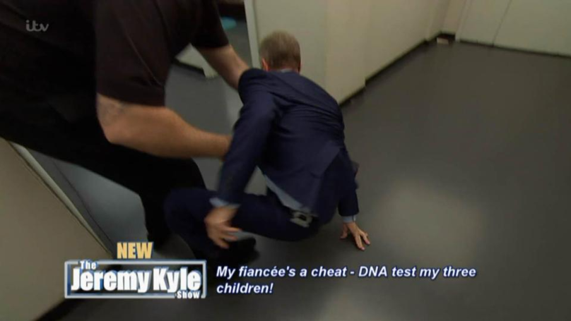 Jeremy Kyle Took A Tumble While Chasing After A Guest Backstage