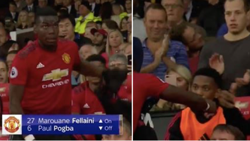Anthony Martial's Face Was A Picture When Marouane Fellaini Replaced Paul Pogba
