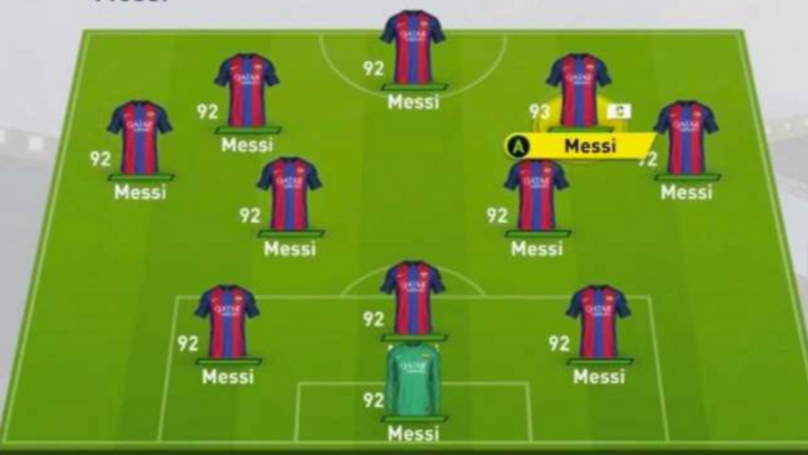 WATCH: What Happens When You Play With A Team Of Messis On FIFA 17