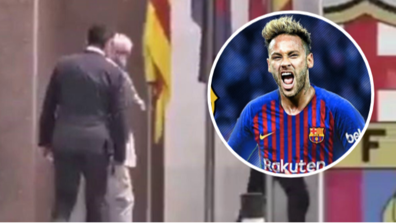 Neymar's Lawyers Spotted Entering Barcelona's Offices This Morning