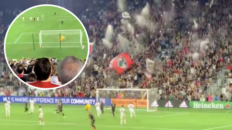 Wayne Rooney Scores 92nd Minute Penalty For DC United And Beers Fly Everywhere