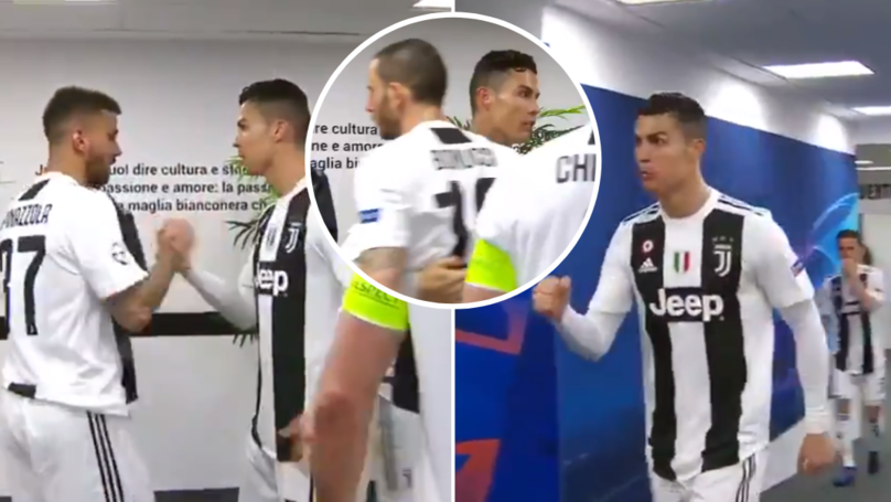 Tunnel Footage Emerges Of Cristiano Ronaldo Motivating His Juventus Teammates Before Second-Half