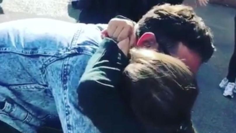 Ryan Thomas Surprises Daughter Scarlett At School Gates In Emotional Footage