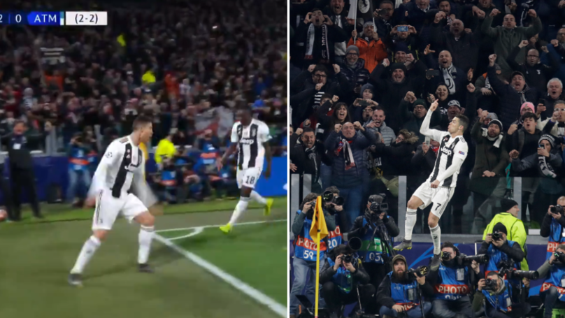 "65,000 Fans Screaming ""SIIIIIIII"" After Cristiano Ronaldo Scores Hat-Trick Will Give You Goosebumps"