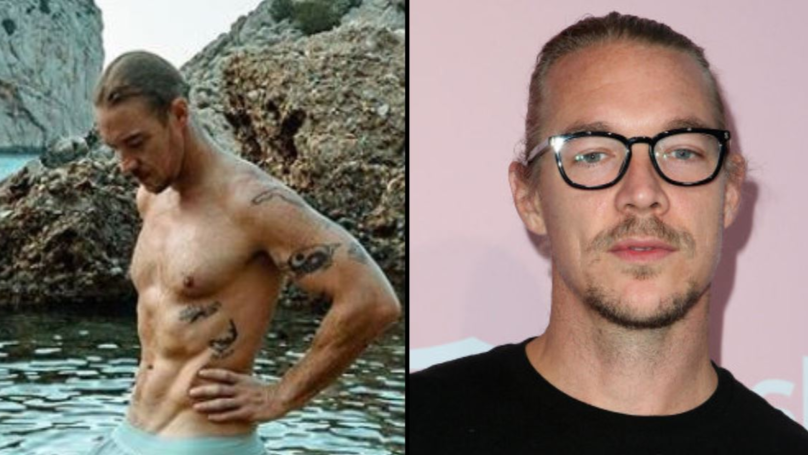 Diplo Posts X-Rated Picture Of Himself Looking 'Excited' By Nature